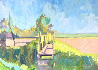 Isfield in Spring - 100cm x 100cm - Private Collection
